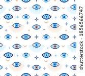 evil eye seamless pattern.... | Shutterstock .eps vector #1856566747