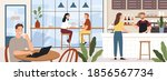 people coffeehouse. cafe...   Shutterstock .eps vector #1856567734