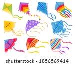 cartoon kites. wind flying toy...   Shutterstock .eps vector #1856569414