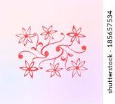 watercolor vector flower | Shutterstock .eps vector #185657534