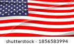 united states of america flag...   Shutterstock . vector #1856583994
