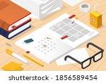 vector isometric illustration... | Shutterstock .eps vector #1856589454