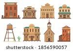 variety of old houses for...   Shutterstock .eps vector #1856590057