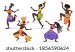 african female dancers flat set ... | Shutterstock .eps vector #1856590624