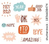 quotes with doodles and...   Shutterstock .eps vector #1856608474