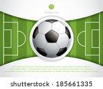 soccer ball brochure.vector | Shutterstock .eps vector #185661335