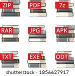 icon set of diffrent file... | Shutterstock .eps vector #1856627917
