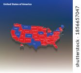 map of usa  usa 3d map and... | Shutterstock .eps vector #1856657047