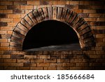 a traditional oven for cooking... | Shutterstock . vector #185666684