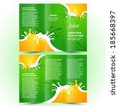 juice fruit drops liquid... | Shutterstock .eps vector #185668397