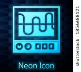 glowing neon oscilloscope... | Shutterstock .eps vector #1856688121