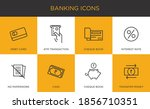 banking finance linear icon set ... | Shutterstock .eps vector #1856710351
