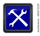 vector wrench and hammer  ... | Shutterstock .eps vector #185671229