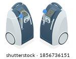 isometric home medical oxygen... | Shutterstock .eps vector #1856736151