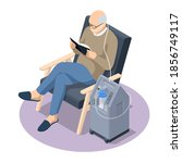 isometric home medical oxygen... | Shutterstock .eps vector #1856749117