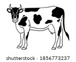 Cow Icon Or Logo. Milk  Farm...