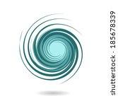 spiral element vector | Shutterstock .eps vector #185678339
