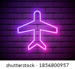 airplane purple glowing neon ui ...