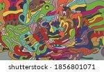 vector abstract cartoon doodle... | Shutterstock .eps vector #1856801071