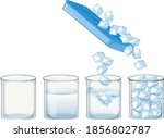 ice cube on white background... | Shutterstock .eps vector #1856802787