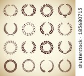 collection of sixteen circular... | Shutterstock .eps vector #185680715