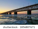 Ice Drift On The Amur River At...