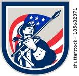 illustration of an american... | Shutterstock .eps vector #185682371