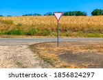 Country Road And Agricultural...