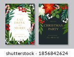 merry christmas and happy new... | Shutterstock .eps vector #1856842624