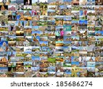 collection images with several... | Shutterstock . vector #185686274