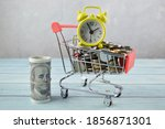Selective Focus Of Shopping...