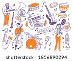 jazz music player and the... | Shutterstock .eps vector #1856890294