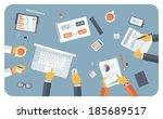 flat design style modern vector ... | Shutterstock .eps vector #185689517