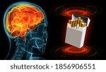 roentgen human head image with...