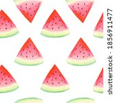 watercolor watermelon seamless... | Shutterstock . vector #1856911477