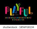 playful style font design ... | Shutterstock .eps vector #1856918134