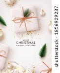 merry christmas and happy new... | Shutterstock .eps vector #1856929237