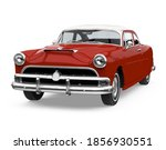 vintage car isolated. 3d... | Shutterstock . vector #1856930551