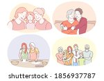 grandmother and grandchild ...   Shutterstock .eps vector #1856937787