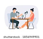 cartoon smiling people...   Shutterstock .eps vector #1856949901