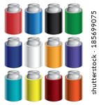 koozies or can coolers is an... | Shutterstock .eps vector #185699075