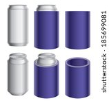 aluminum can and koozie or... | Shutterstock .eps vector #185699081