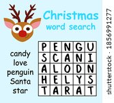 christmas word search puzzle... | Shutterstock .eps vector #1856991277