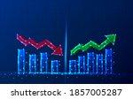 vector tech polygonal growth... | Shutterstock .eps vector #1857005287