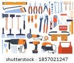 set of tools  tools for repair  ...   Shutterstock .eps vector #1857021247