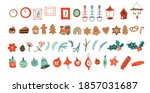 christmas winter holiday... | Shutterstock .eps vector #1857031687
