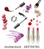 collection of various make up... | Shutterstock . vector #185704781