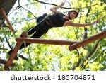 young caucasian attractive... | Shutterstock . vector #185704871