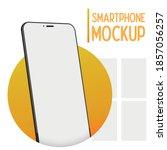 smartphone mockup perspective.... | Shutterstock .eps vector #1857056257