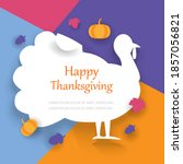 happy thanksgiving card with...   Shutterstock .eps vector #1857056821